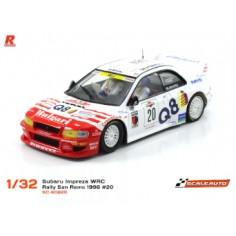 "SCALEAUTO SC-6082R SUBARU WRC RALLY SAN REMO 1998 Nº20 ""R SERIES"""