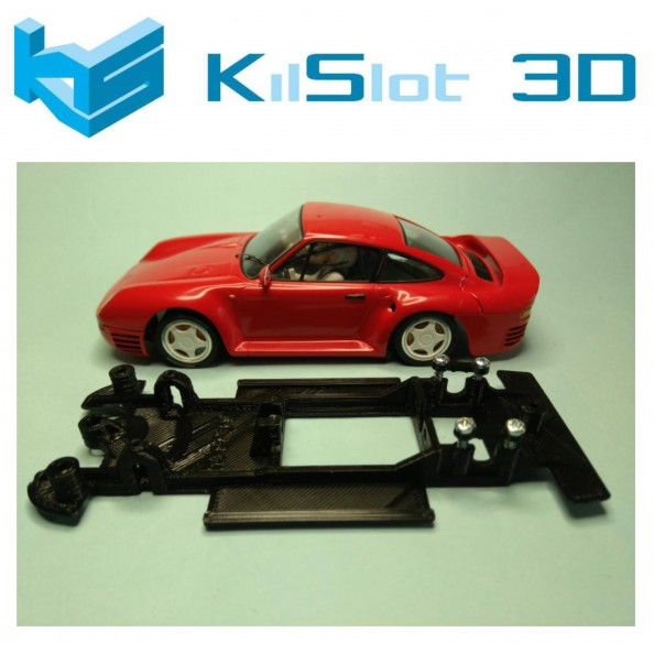 KILSLOT KS-BP3B CHASIS 3D LINEAL BLACK PORSCHE 959 MSC