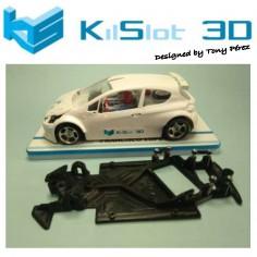 KILSLOT KS-AX88 CHASIS 3D ANGULAR RACE 2018 PEUGEOT 208 SCALEAUTO