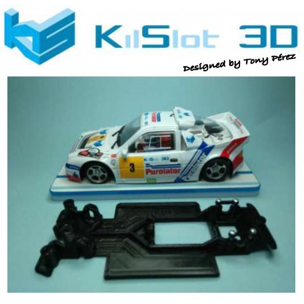KILSLOT KS-RC28 CHASIS 3D LINEAL RACE 2018 FORD RS 200 MSC