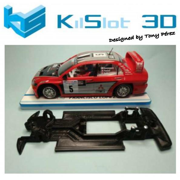 KILSLOT KS-RN78 CHASIS 3D LINEAL RACE 2018 MITSUBISHI EVO VIII WRC NINCO