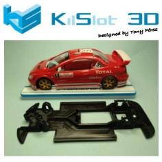 KILSLOT KS-RN68 CHASIS 3D LINEAL RACE 2018 PEUGEOT 307 WRC NINCO