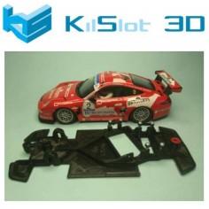 KILSLOT KS-GT28 CHASIS 3D ANGULAR RACE 2018 PORSCHE 997 NINCO