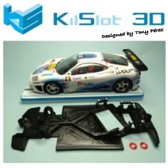 KILSLOT KS-GT18 CHASIS 3D ANGULAR RACE 2018 FERRARI 360 MODENA NINCO