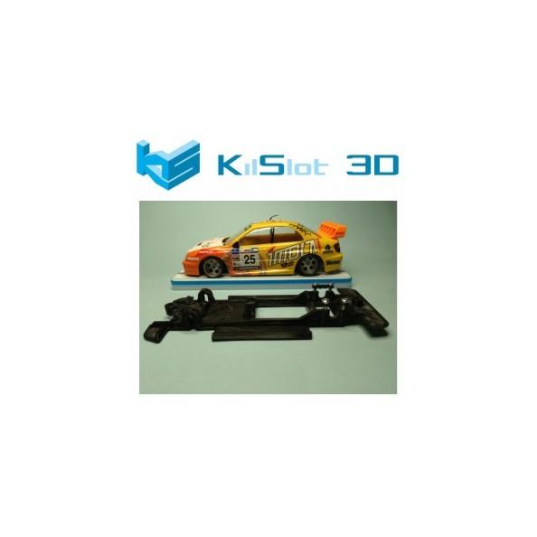 KILSLOT KS-CS8B CHASIS 3D LINEAL BLACK SUBARU IMPREZA WRC 2003 NINCO