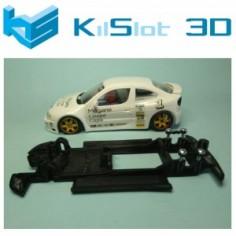 CHASIS 3D KILSLOT LINEAL BLACK RENAULT MEGANE KIT CAR NINCO