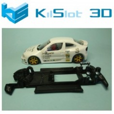 KILSLOT KS-CM2B CHASIS 3D LINEAL BLACK RENAULT MEGANE KIT CAR NINCO