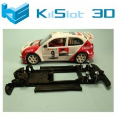 KILSLOT KS-CC5B CHASIS 3D LINEAL BLACK TOYOTA COROLLA WRC NINCO