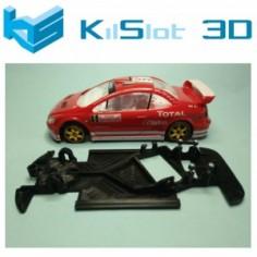KILSLOT KS-AN68 CHASIS 3D ANGULAR RACE 2018 PEUGEOT 307 WRC NINCO