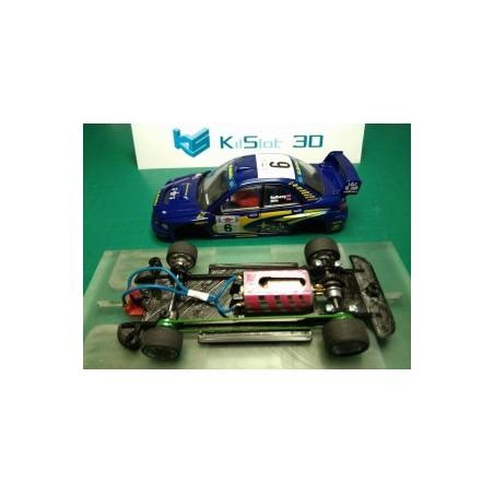KILSLOT KS-CS9B CHASIS 3D LINEAL BLACK SUBARU IMPREZA WRC 2001SCX