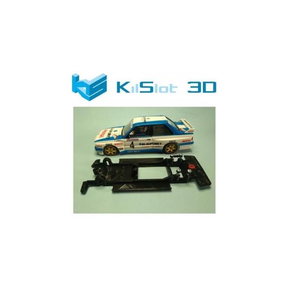 KILSLOT KS-CM1B CHASIS 3D LINEAL BLACK BMW M3 E30 ALTAYA