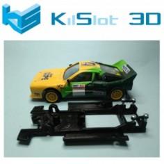 KILSLOT KS-CL1B CHASIS 3D LINEAL BLACK LANCIA 037 SCX