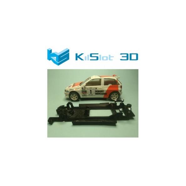 KILSLOT KS-CI1B CHASIS 3D LINEAL BLACK SEAT IBIZA KIT CAR SCX