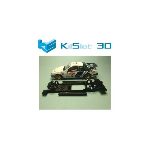KILSLOT KS-CF5B CHASIS 3D LINEAL BLACK FORD SIERRA RS COSWORTH SCX