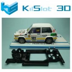 KILSLOT KS-BR8B CHASIS 3D LINEAL BLACK RENAULT 8 TS SCX