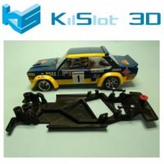 KILSLOT KS-BF1A CHASIS 3D ANGULAR BLACK FIAT 131 ABARTH SCX