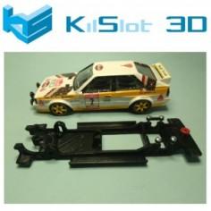 KILSLOT KS-BA3B CHASIS 3D LINEAL BLACK AUDI QUATTRO SCX