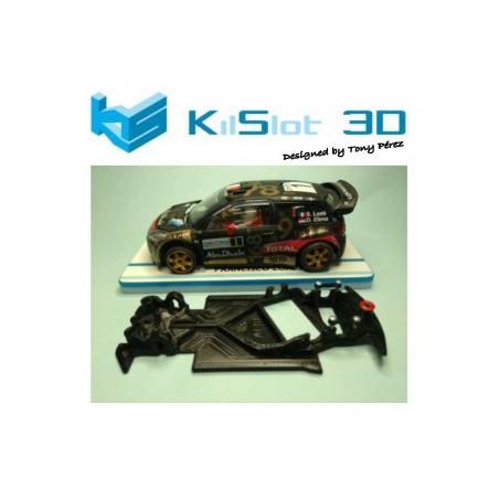 KILSLOT KS-AC18 CHASIS 3D ANGULAR RACE 2018 CITROEN DS3 WRC SCX