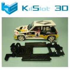 KILSLOT KS-BR5B CHASIS LINEAL BLACK RENAULT 5 MAXI TURBO SCX
