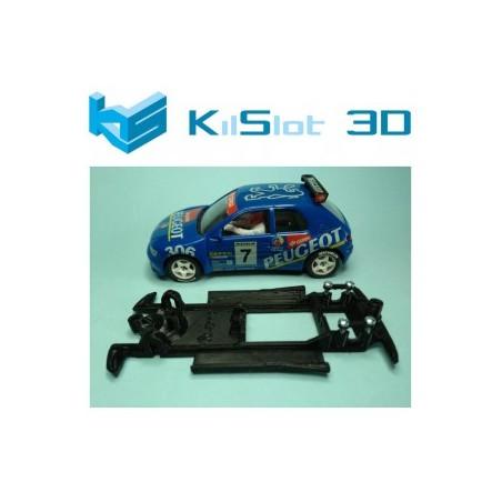 KILSLOT KS-CP1B CHASIS 3D LINEAL BLACK PEUGEOT 306 KIT CAR NINCO