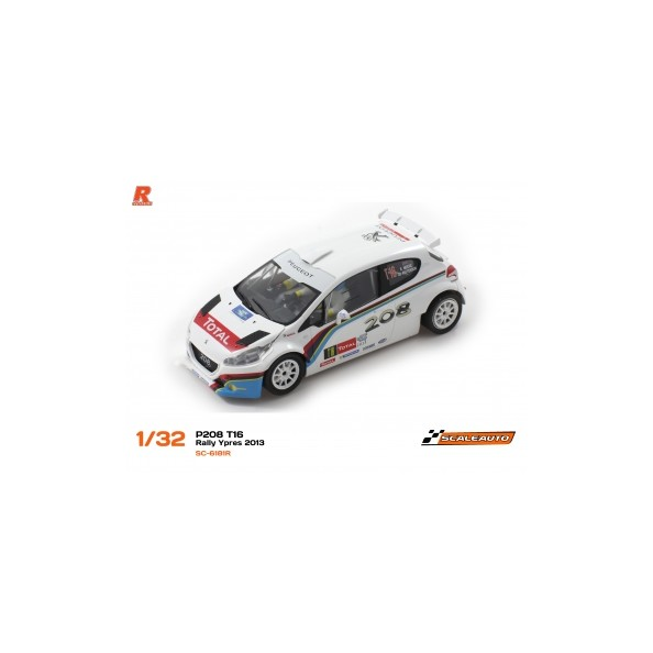SCALEAUTO SC-6181R PEUGEOT 208 T16 RALLY YPRES 2013