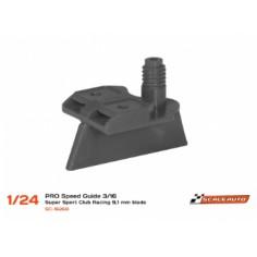 SCALEAUTO SC-1626B GUÍA SUPER-SPORT PERFIL BAJO 3/16 (9,1mm) GRIS 1/24