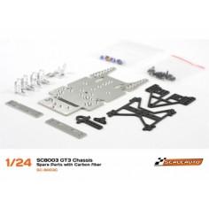 SCALEAUTO SC-8003 CHASIS GT3 1/24 EN KIT CON PIEZAS DE CARBONO