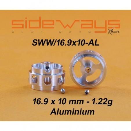 SIDEWAYS RC-SWW1691AL LLANTAS ALUMINIO 16,9x10mm ALIGERADAS