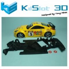 KILSLOT KS-GT38 CHASIS 3D ANGULAR RACE 208 NISSAN 350Z POWER SLOT
