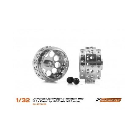 SCALEAUTO SC-4074K25 LLANTA ALUMINIO 16.9X10MM. LIGHTWEIGHT V2