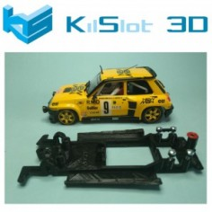 KILSLOT KS-BR6B CHASIS 3D LINEAL BLACK RENAULT R5 TURBO TEAMSLOT