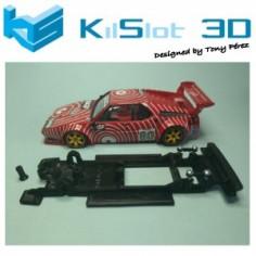 KILSLOT KS-BM2V2 CHASIS 3D LINEAL BLACK BMW M1 ALTAYA VERSION 2 (TETÓN MODIFICADO)