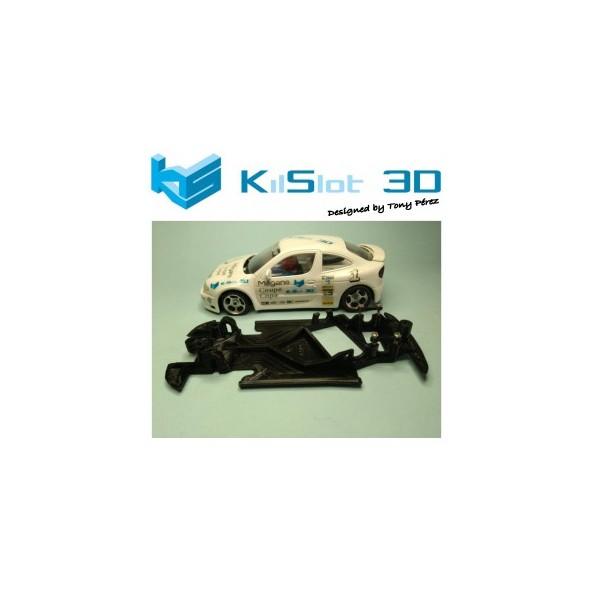 KILSLOT KS-AM18 CHASIS 3D ANGULAR RACE 2018 RENAULT MEGANE KITCAR NINCO