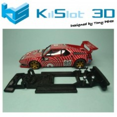 KILSLOT KS-BM2V1 CHASIS 3D LINEAL BLACK BMW M1 ALTAYA VERSIÓN 1 (TETÓN ORIGINAL)