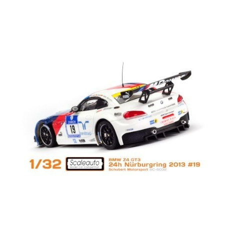 COCHE SLOT BMW Z4 GT3 24H NURBURGRING 2013 19 HOME SERIES SCALEAUTO