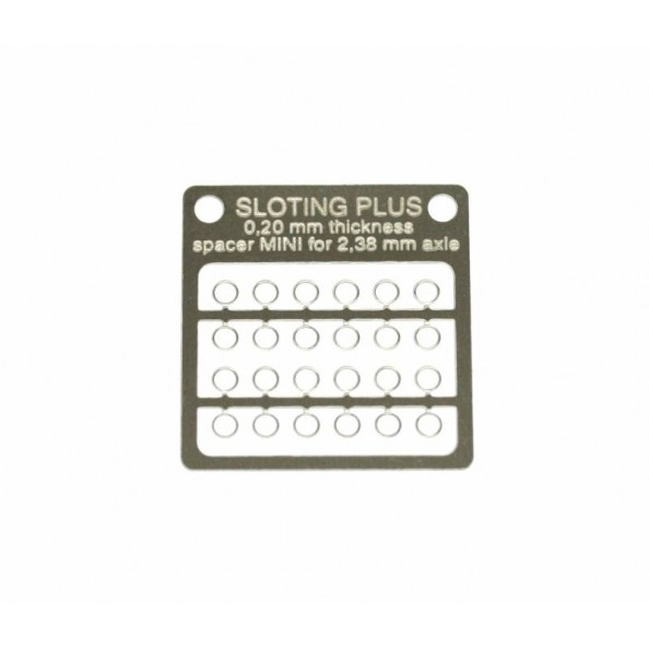 SLOTING PLUS SP062002 24 SEPARADORES ACERO INOX 0,20 mm MINI EJE 3/32