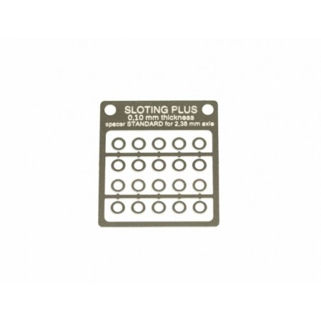 SLOTING PLUS SP062101 20 SEPARADORES ACERO INOX 0,10 mm EJE 3/32
