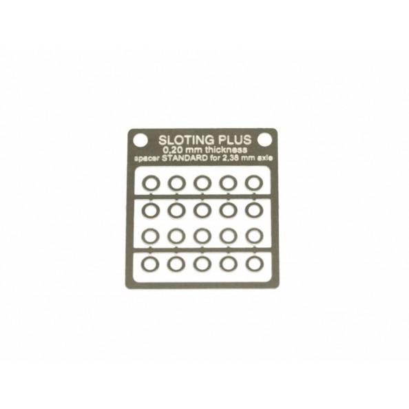 SLOTING PLUS SP062102 20 SEPARADORES ACERO INOX 0,20 mm EJE 3/32