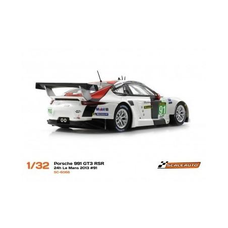 SCALEAUTO COCHE SLOT GT PORSCHE 991 HOME SERIES RSR 24H. LE MANS 2013 2ND 91