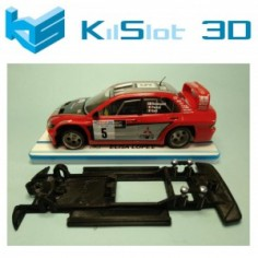 KILSLOT KS-CE5B CHASIS LINEAL BLACK MITSUBISHI EVO VIII WRC NINCO