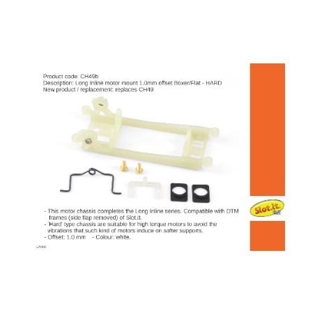 Slot.it SI-CH49B Soporte motor en linea motor Offset 1mm