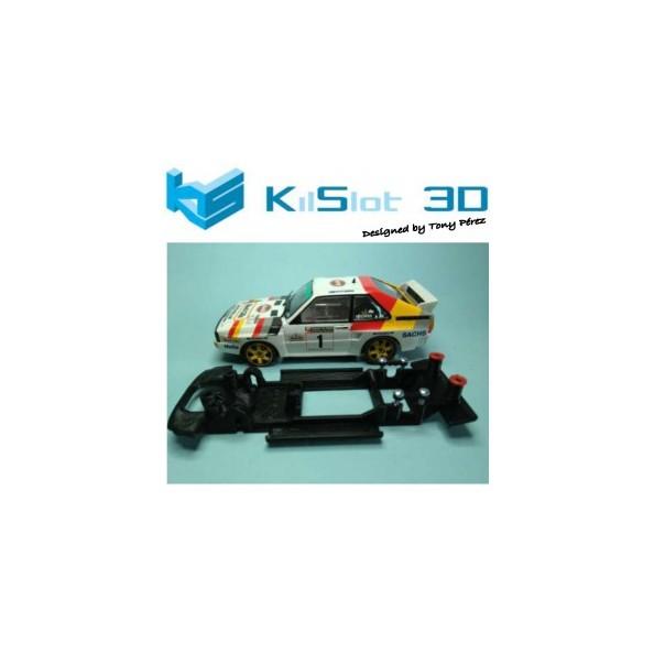 KILSLOT KS-BA7B CHASIS 3D LINEAL BLACK AUDI SPORT QUATTRO (CORTO) SUPERSLOT