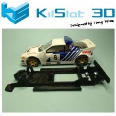 KILSLOT KS-BF5B Chasis 3D LINEAL BLACK Ford RS200 SCX