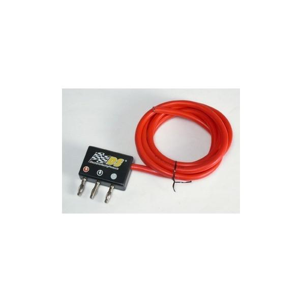 DS-0011 CONECTOR COMPACTO CON BANANAS + 1.5M CABLE SILICONA