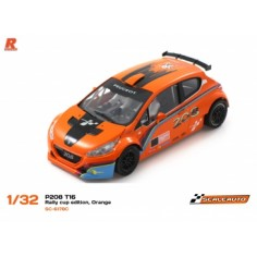 SCALEAUTO SC-6178C Peugeot 208 T16 CUP EDITION Naranja/negro