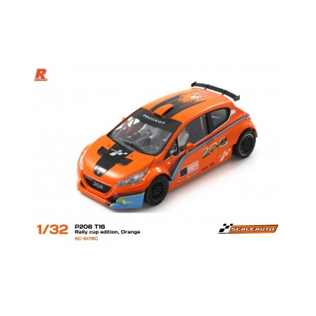 SCALEAUTO SC-6178C Peugeot 208 T16 CUP EDITION Naranja/negro
