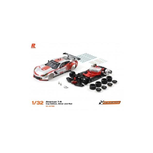 SCALEAUTO SC-6179B A7R GT3 CUP EDITION PLATA/ROJO