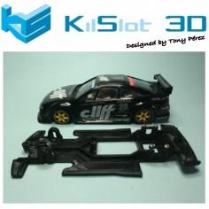 KILSLOT KS-VC3T Chasis LINEAL RACE SOFT Opel Calibra DTM Ninco