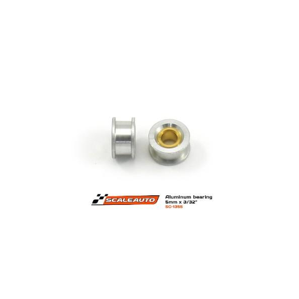 SCALEAUTO SC-1355 Cojinete aluminio doble pestaña