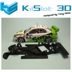 KILSLOT KS-AN58 chasis 3d ANGULAR RACE SOFT 2018 IMPREZA 06 WRC NINCO